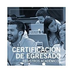Certificación matrícula