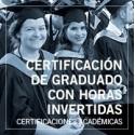 Certificación de graduado con horas invertidas