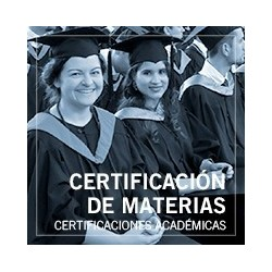 Certificación de materias